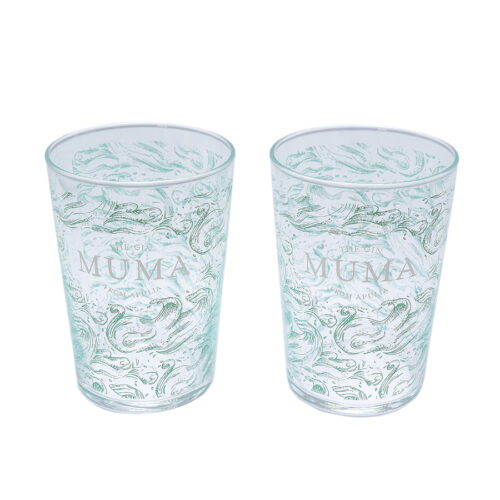 Coppia di bicchieri in vetro con design originale MUMA